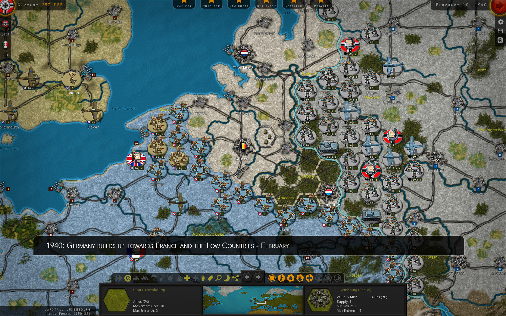 Strategic command shows the course of world war 2 in screenshots stay tuned for further updates and get more information from the official product page publicscrutiny Images