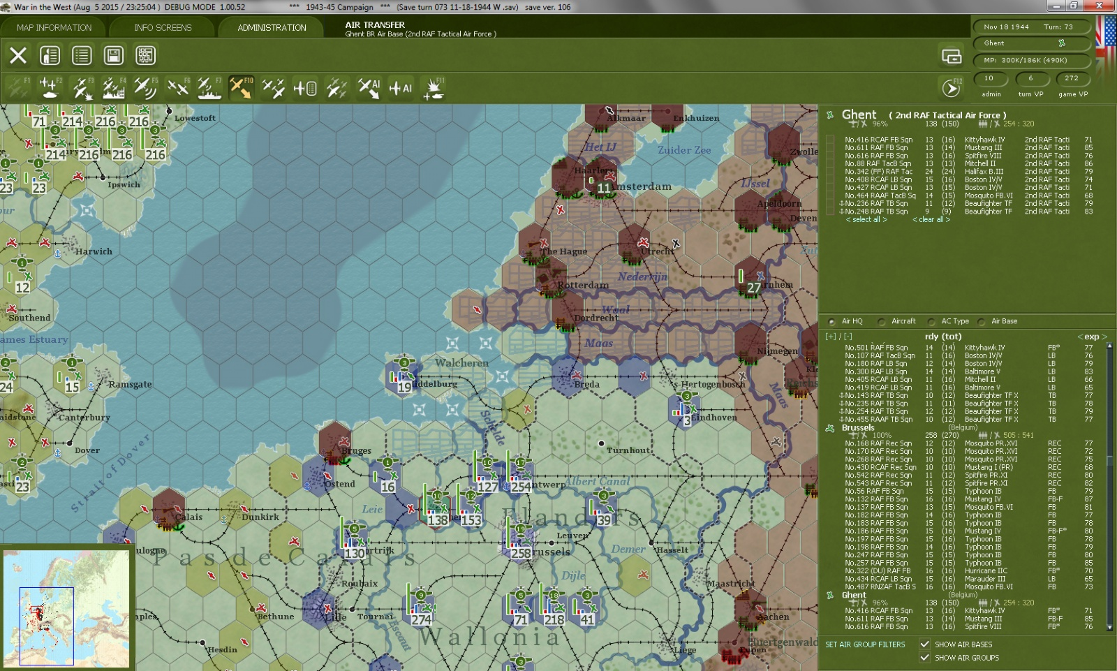Screenshot of War in the West